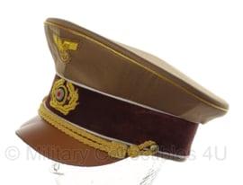 AH Fuhrer Schirmmütze - partijuitvoering - luxe uitvoering met leren klep - 59 of 60 cm.