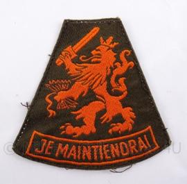 KL Koninklijke Landmacht arm embleem leeuw - Je Maintiendrai - DT 1963/2000 - 7 x 8 cm - origineel