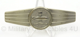 BW Bundeswehr borstspange Tatigkeitsabzeiche zilver - Underwater weapons staff activity badge - afmeting 8 x 2 cm - origineel