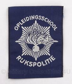 Embleem Opleidingsschool korps rijkspolitie - 5 x 6,5 cm - Origineel