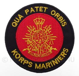 KM Koninklijke Marine, Korps Mariniers embleem - met klittenband -diameter 9 cm