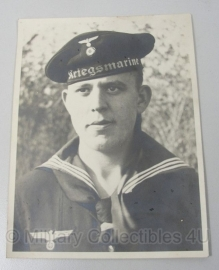 Foto - Duitse Kriegsmarine matroos - 1940 24 x 18 cm.orgineel 1940