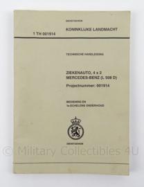 KL Landmacht Technische Handleiding Mercedes Benz ziekenauto 4x2 L508D - TH00914 - afmeting 21 x 15 cm - origineel