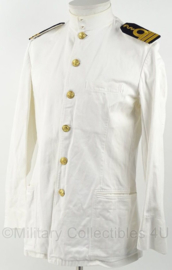 KM Marine toetoep uniform wit met opstaande kraag en gouden knopen - KLTZ Geneeskundige Dienst - maat medium - origineel