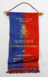 Oud Mariniers Postwedstrijden lintje 1970-1990 - afmeting 31 x 13 cm - origineel