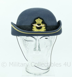 KLU Luchtmacht  dames DT hoed voor officieren - gemaakt 2008 - maat 58- origineel