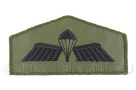 KL Nederlanse leger parawing Brevet B embleem - groen - origineel