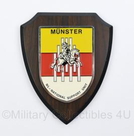 KL Nederlandse leger Münster NL National Support Unit wandbord - 18,5 x 14,5 x 1,5 cm - origineel