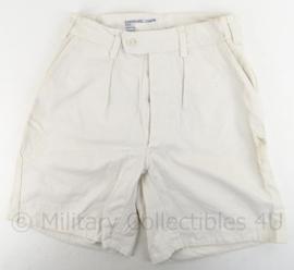 KM Koninklijke Marine korte broek - wit - breedte taille 38 cm - origineel