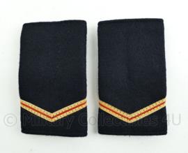 Nederlandse Brandweer zwart wollige epauletten - rang Brandwacht - paar - origineel