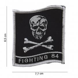 Embleem stof - Fighting 84 - zonder klitteband - 8,5 x 7,7 cm
