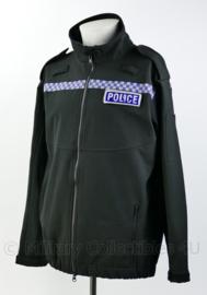 Britse POLICE Softshell jas met insignes op klittenband - maat Small Regular - origineel