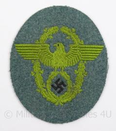 WO2 Duits Schutzpolizei arm embleem - afmeting 8,5 x 10,5 cm - origineel