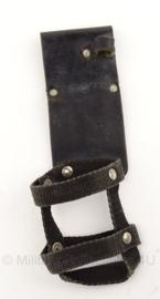Politie portofoon tas voor koppel - zwart leer - origineel