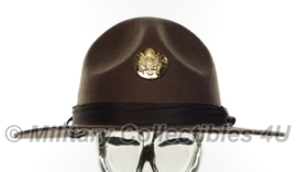 US ww2 Enlisted campaign hat met metalen insigne