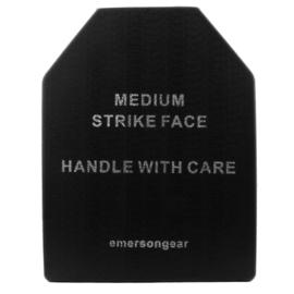 DuMMY Keramische plaat voor Kogelwerend vest - Medium Strike Face - zwart