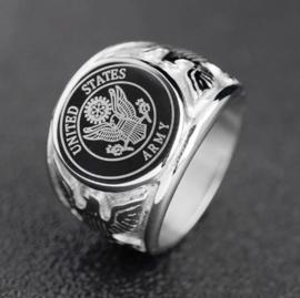 US Army zilveren ring - meerdere maten
