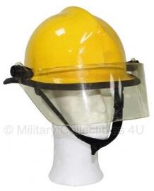 Brandweer helm laag model - geel - defecte liner - origineel