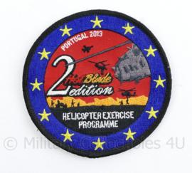 Klu Luchtmacht helicopter Exercise Programme 2nd Blade edition Portugal 2013 patch - met klittenband - origineel   - origineel