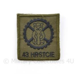 KL Nederlandse leger S43 HRSTCIE 43 Brigadeherstelcompagnie borstembleem - met klittenband - 5 x 5 cm - origineel