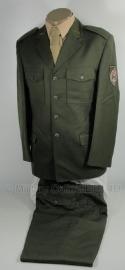Uniform set - jas + broek + schuitje ongebruikt  - maat XS Tm. XL en 5xl -  Donkergroen - origineel
