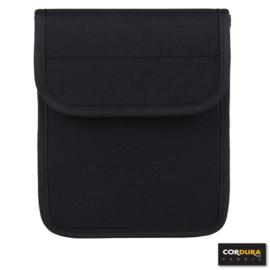 Koppeltasje voor documenten of notitieboekje - zwart - 100% Cordura - DP222