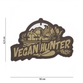 Embleem 3D PVC - met klittenband - Vegan Hunter - 10 x 6,5 cm.