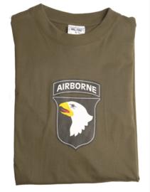 T shirt 101st airborne - Groen