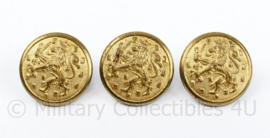 Nederlandse model tot 1940 knoop goudkleurig - set van 3 stuks - 24 mm -origineel