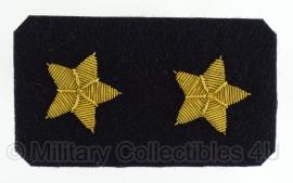 Marine rangsterren voor onderaan de mouw SET - origineel