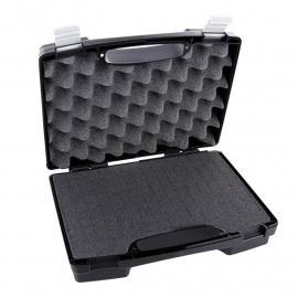 Pistool koffer hard kunststof - 26x21x7,6 cm. - zwart