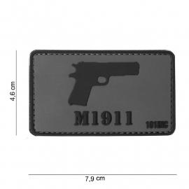 Embleem 3D PVC - met klittenband - M1911 Colt patch - 7,6 x 4,6  cm