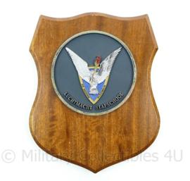 Luchtmacht stafschool wandbord - afmeting 22 x 18 x 1,5 cm - origineel