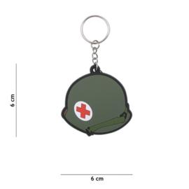Sleutelhanger 3D PVC - WW2 US Medic helmet