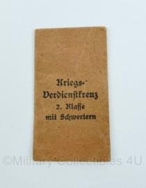Wo2 Duits medaille zakje kriegsverdienstkreuz 2e klasse met zwaarden - origineel
