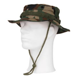 Boonie hat / Bush hat - Luxe model Ripstop - Woodland camo - alleen nog maat Small