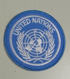 KL VN UN United Nations Patch met klittenband - 7,2 cm diameter - origineel