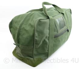 Defensie en Korps Mariniers groene canvas parabag - zeer goede staat  - 58 x 35 x 25 cm - origineel