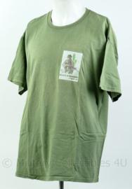 Groen t-shirt van het Korps Mariniers Curaçao Maat XL - Origineel