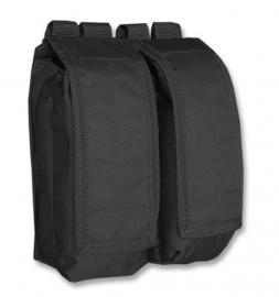 Koppel magazijn tas dubbel AK47 - Molle draagsysteem - 15x7x19cm - Zwart