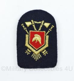 Nederlandse Brandweer pet insigne - 7,5 x 5 cm - origineel