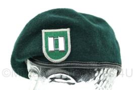 US Army 5th Special Forces Group baret met Captain rank - groen - maat 7,5 - gedragen - origineel