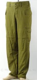 Israelische leger broek groen - maat 2 (taille omtrek 94 cm) - origineel