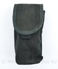 Defensie Zwarte langwerpige MOLLE  opbouwtas met klittenband sluiting Utility pouch - 19 x 7 x 7 cm - origineel