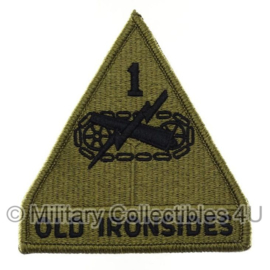 US Army OCP SSI patch - 1st Armoured Division - Old Ironsides - met klittenband - 11 x 9,5 cm - voor multicamo uniform - origineel