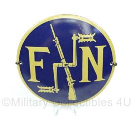 FN motorfiets reclamebord rond 12 cm