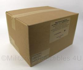 1 doos met 8 zakken Nederlandse leger 24uurs rantsoenen  Maaltijd zak 24 Hour Operationeel Rantsoen W (pouch) + OL + energie module ROEK rantsoen +/- 5350 kcal - 8 verschillende menu's! - houdbaar tot 9- 2021