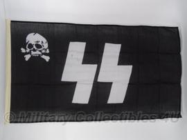 SS doodskop vlag SS totenkopf - 90 x 150 cm