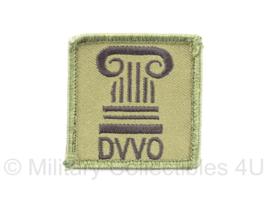 KL Nederlandse leger Defensie Verkeers- en Vervoersorganisatie DVVO eenheid borst embleem met klittenband - 5 x 5 cm - origineel