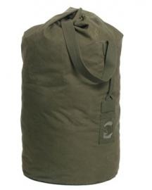 Grote KL MVD Plunjezak duffelbag OD groen - Vroeg model dik canvas model - origineel Nederlands leger